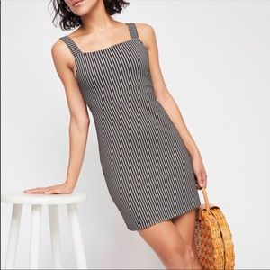 Free People Gingham Tie Back Dress NWOT